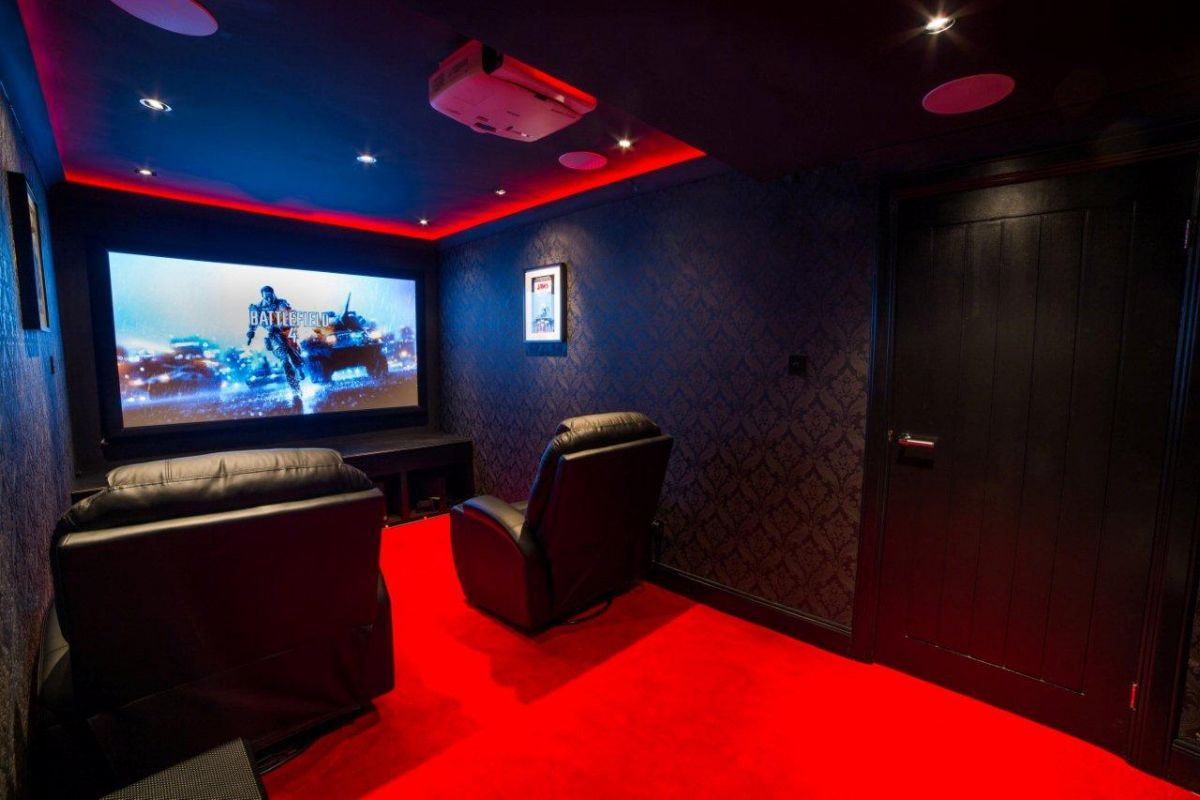 Garage To Home Cinema Av Comm